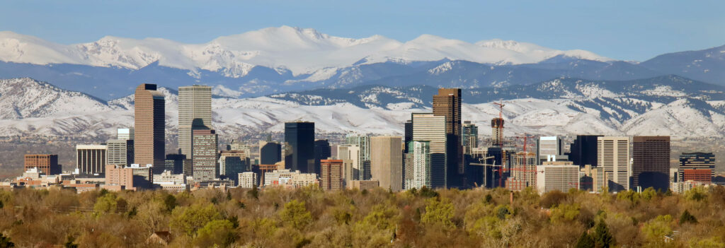 Downtown of Denver, Colorado in Fall