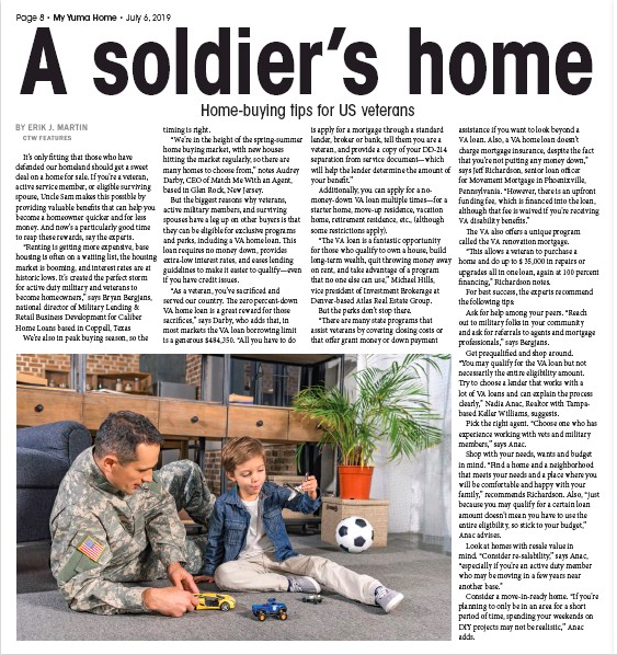 Home-buying tips for veterans