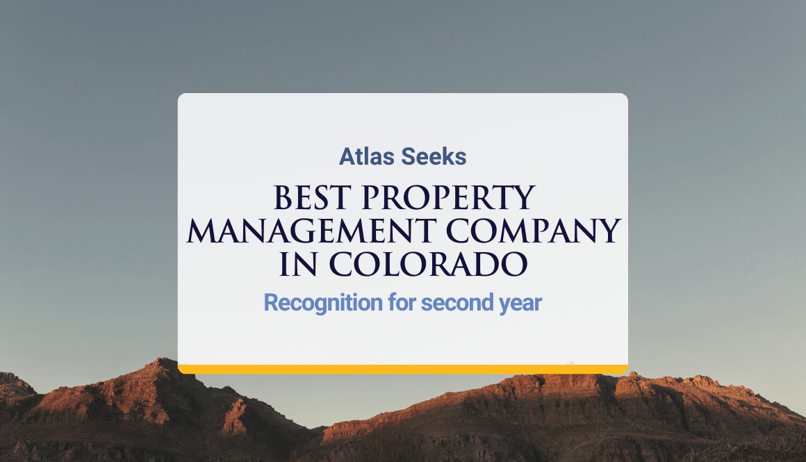 """ATLAS SEEKS """"BEST PROPERTY MANAGEMENT COMPANY IN COLORADO"""" RECOGNITION FOR SECOND YEAR"""