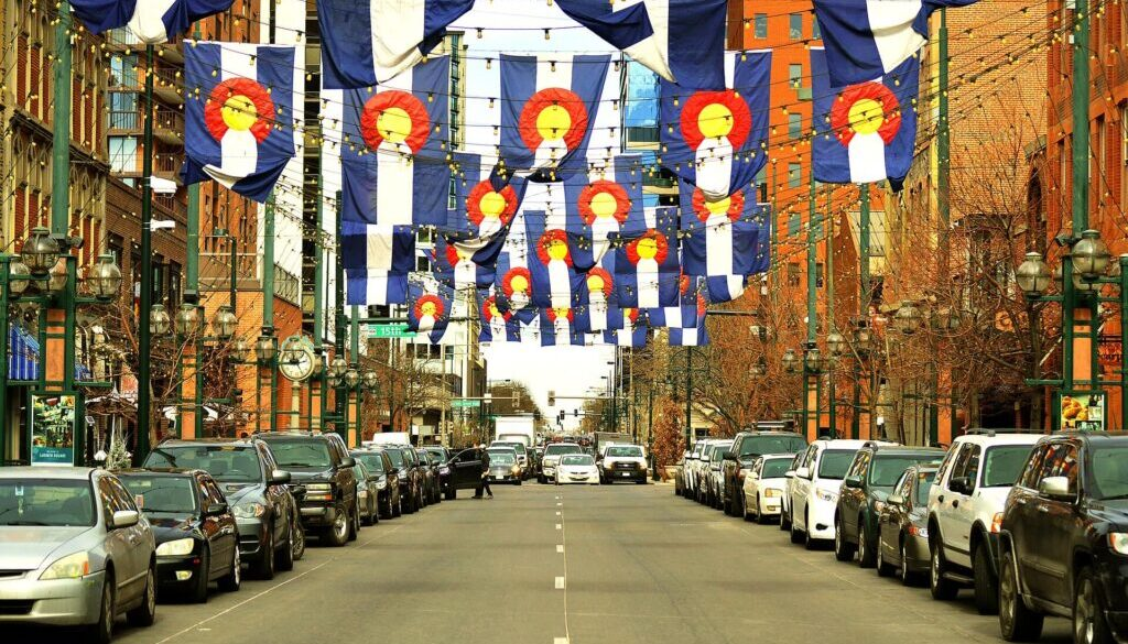 Larimer Denver Colorado Flags Image