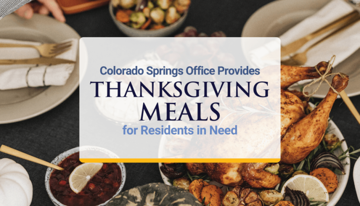Colorado Springs Office Provided Thanksgiving Meals for Residents in Need