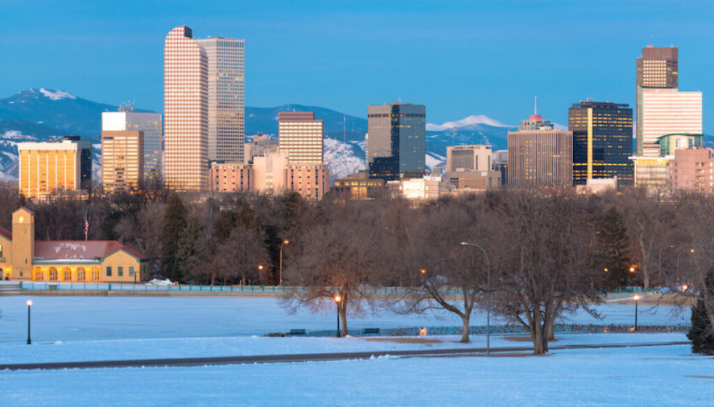 Denver Colorado Skyline Sunrise