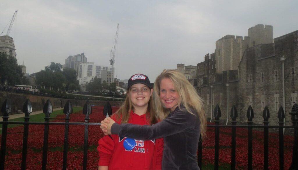 Jenn and Maya Reinhardt in  London