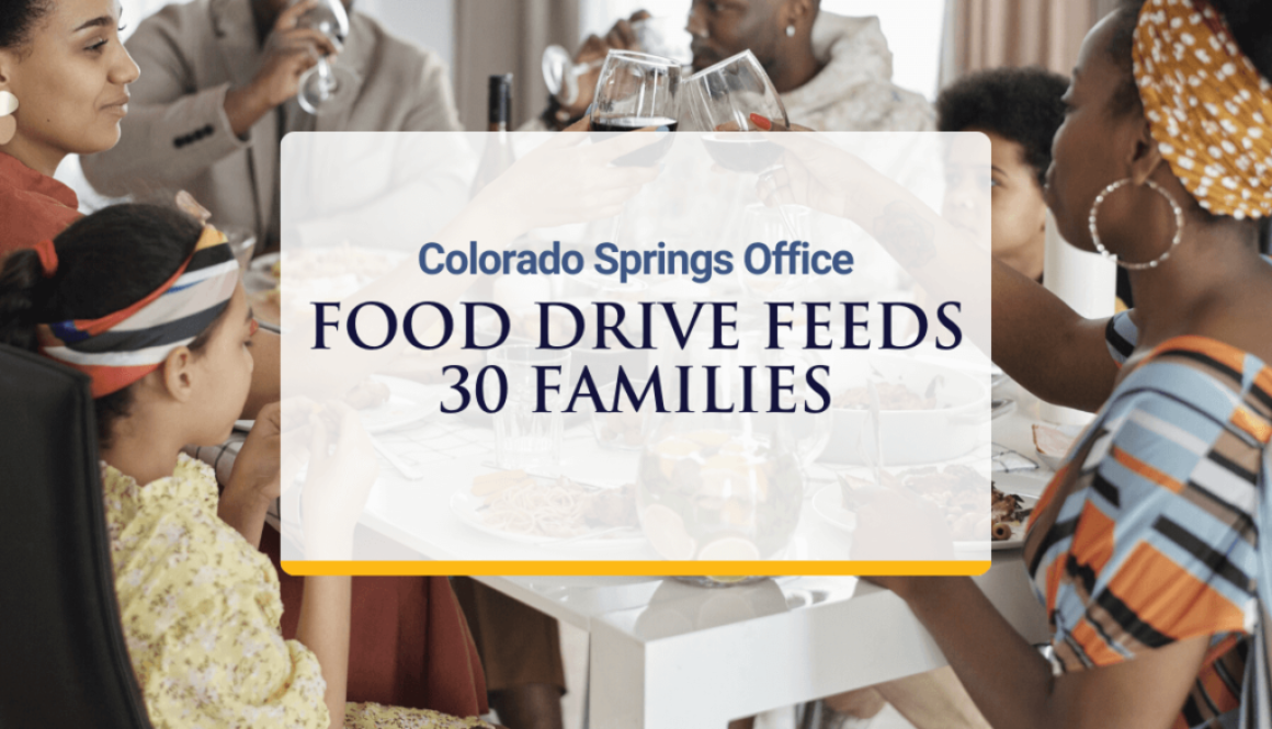 Colorado Springs Office Food Drive Feeds 30 Families in Need