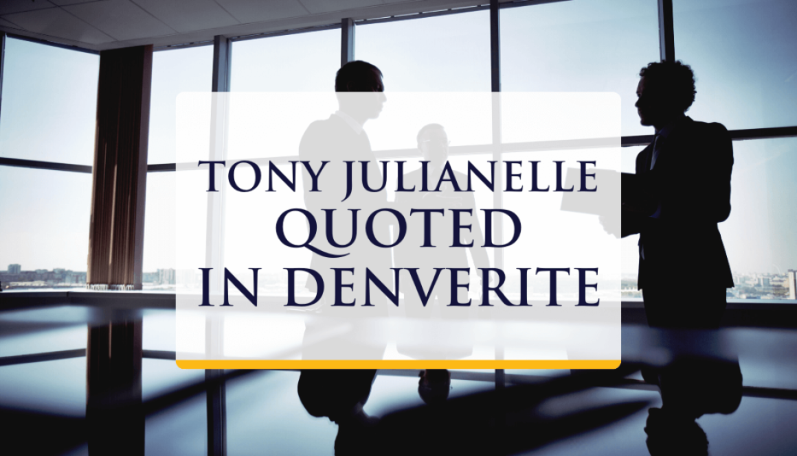 Tony Julianelle quoted in Denverite