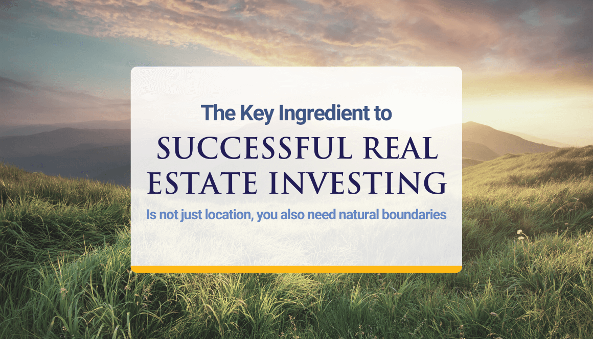 Key Ingredient to successful Real Estate Investing